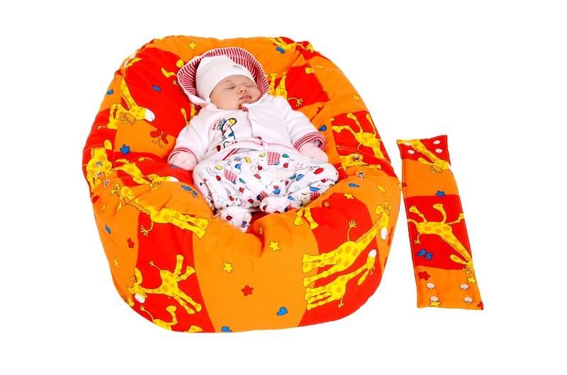Pelíšek pro miminko ŽIRAFA ORANŽOVÁ, 100% bavlna 2