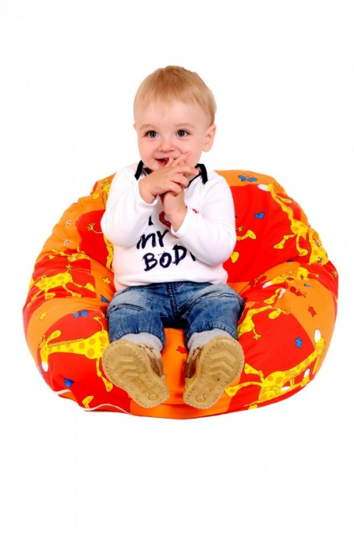 Pelíšek pro miminko ŽIRAFA ORANŽOVÁ, 100% bavlna 4