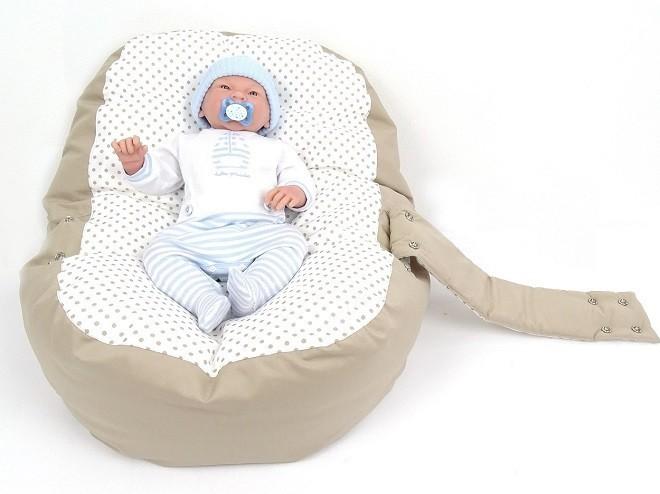 Pelíšek pro miminko ŽIRAFA ORANŽOVÁ, 100% bavlna