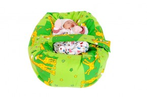 Pelíšek pro miminko ŽIRAFA ZELENÁ, 100% bavlna