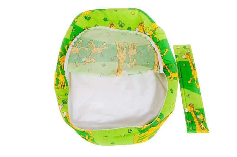 Pelíšek pro miminko ŽIRAFA ZELENÁ, 100% bavlna 5