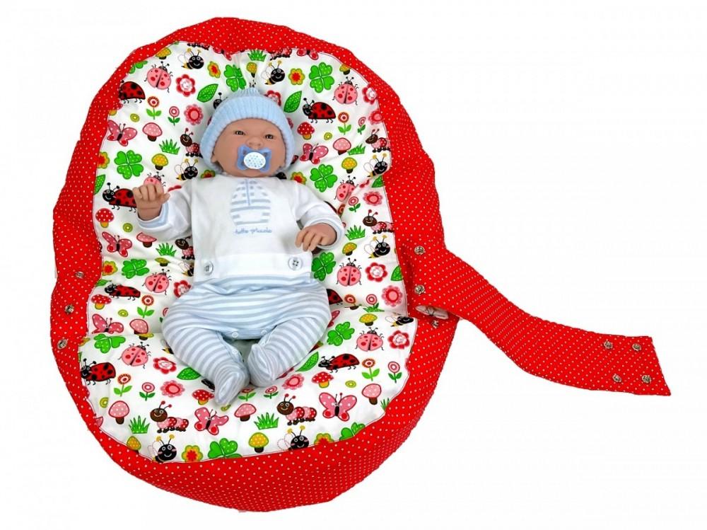 Pelíšek pro miminko BERUŠKA ČERVENÁ, 100% bavlna 1