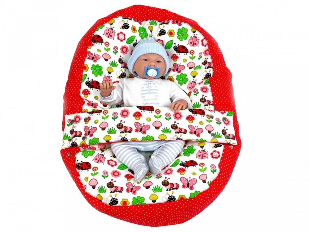 Pelíšek pro miminko BERUŠKA ČERVENÁ, 100% bavlna