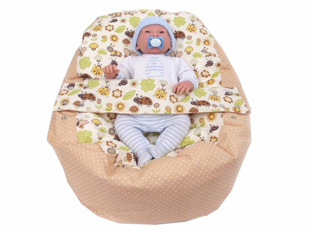 Pelíšek pro miminko BERUŠKA BÉŽOVÁ, 100% bavlna