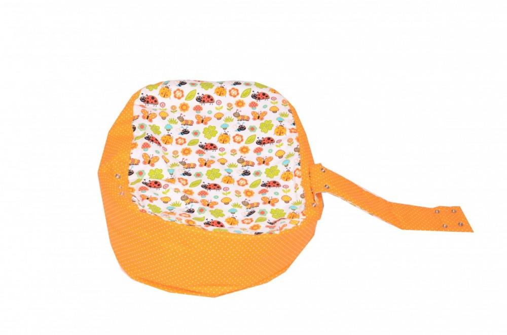 Pelíšek pro miminko BERUŠKA ORANŽOVÁ, 100% bavlna 1