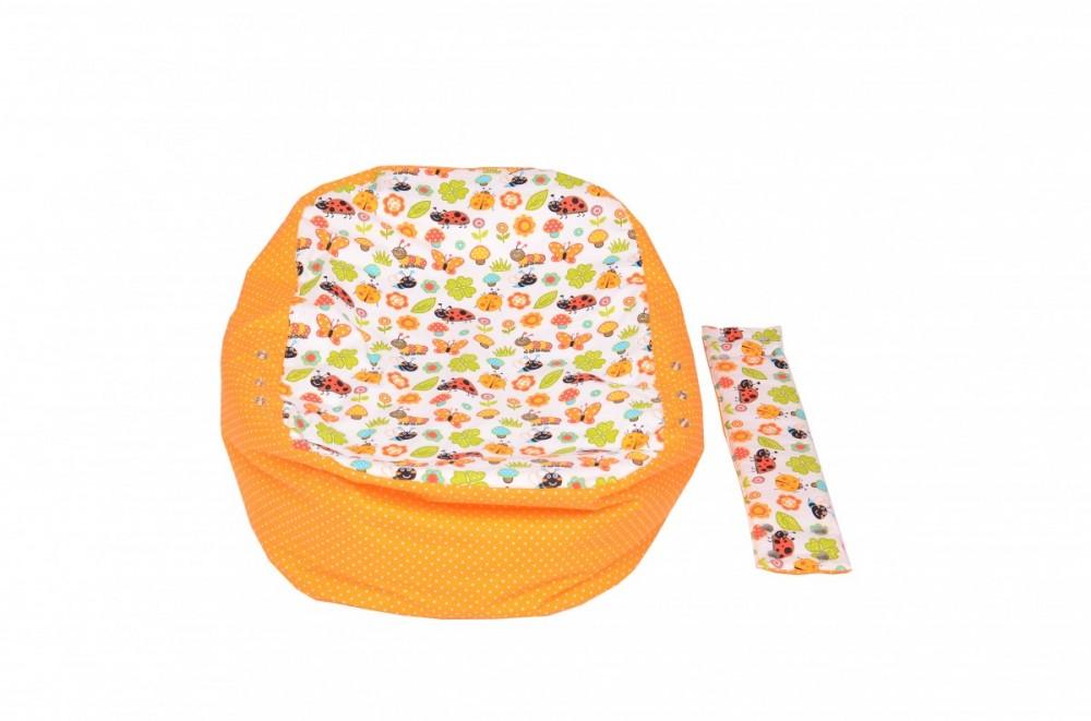Pelíšek pro miminko BERUŠKA ORANŽOVÁ, 100% bavlna 2