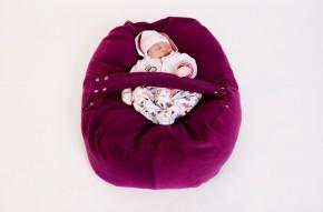 Pelíšek pro miminko FIALOVÝ, fleece
