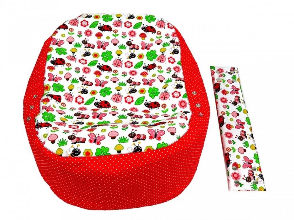 Náhradní potah, na pelíšek pro miminko BERUŠKA ČERVENÁ, 100% bavlna 1