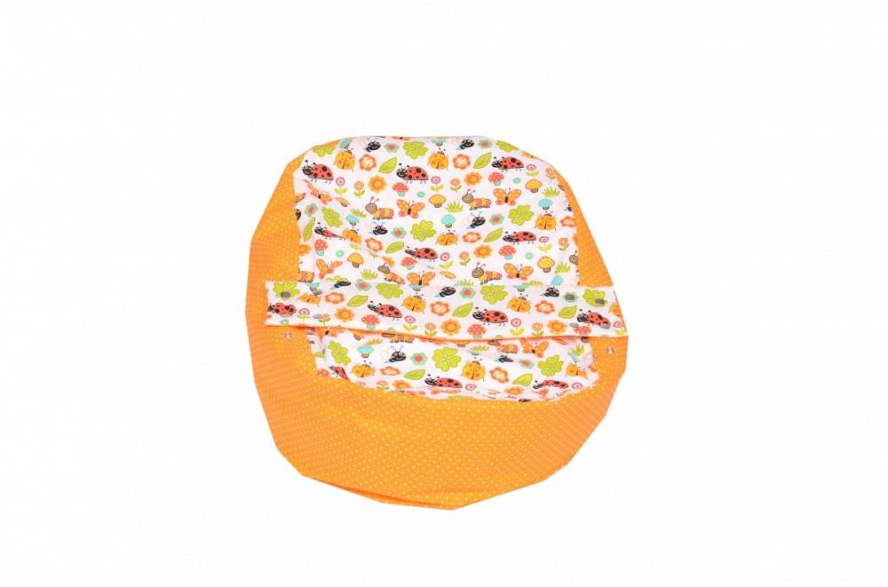 Náhradní potah, na pelíšek pro miminko BERUŠKA ORANŽOVÁ, 100% bavlna