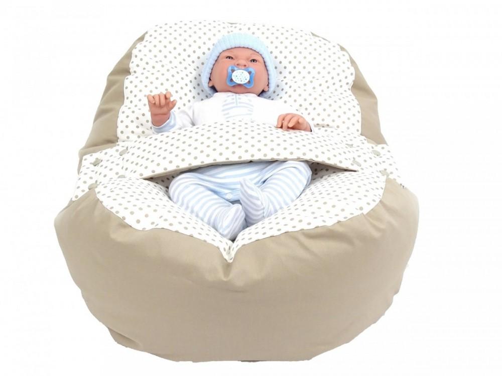 Náhradní potah, na pelíšek pro miminko PUNTÍK BÉŽOVÝ, 100% bavlna 4