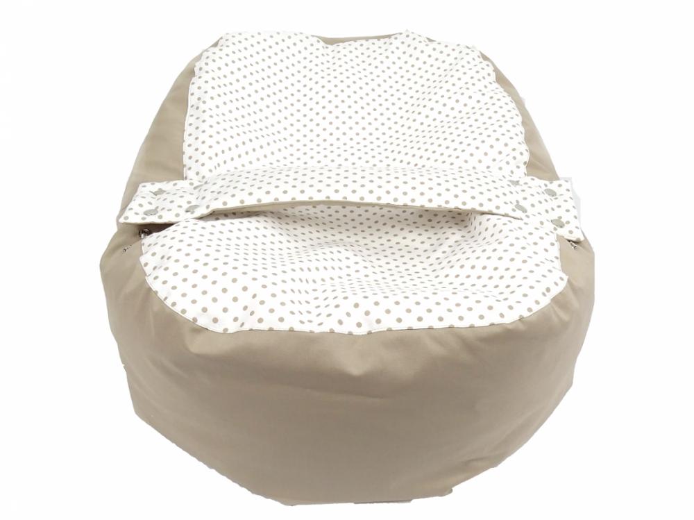 Náhradní potah, na pelíšek pro miminko PUNTÍK BÉŽOVÝ, 100% bavlna