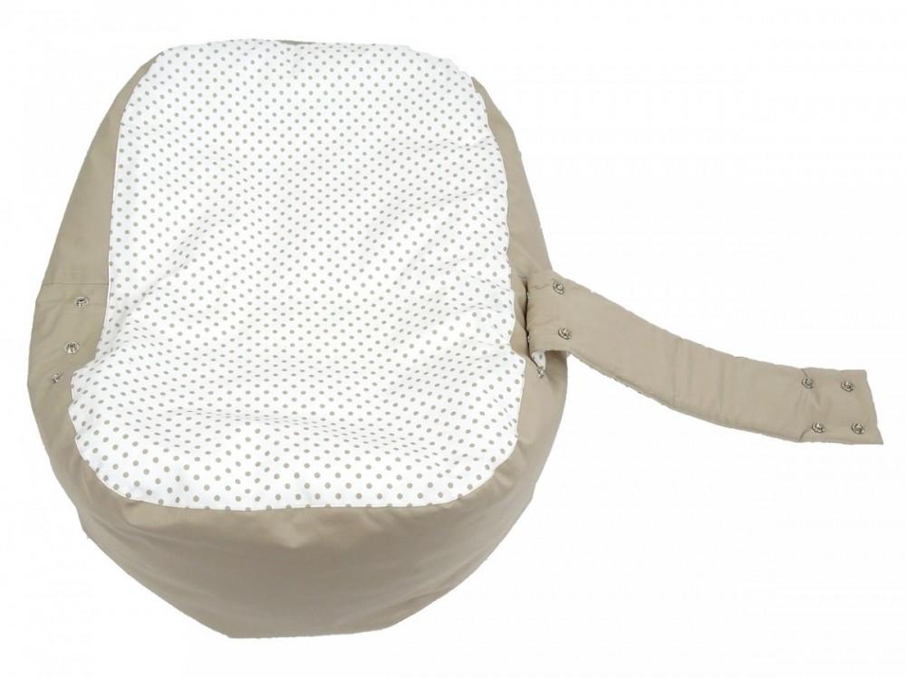 Náhradní potah, na pelíšek pro miminko PUNTÍK BÉŽOVÝ, 100% bavlna 1