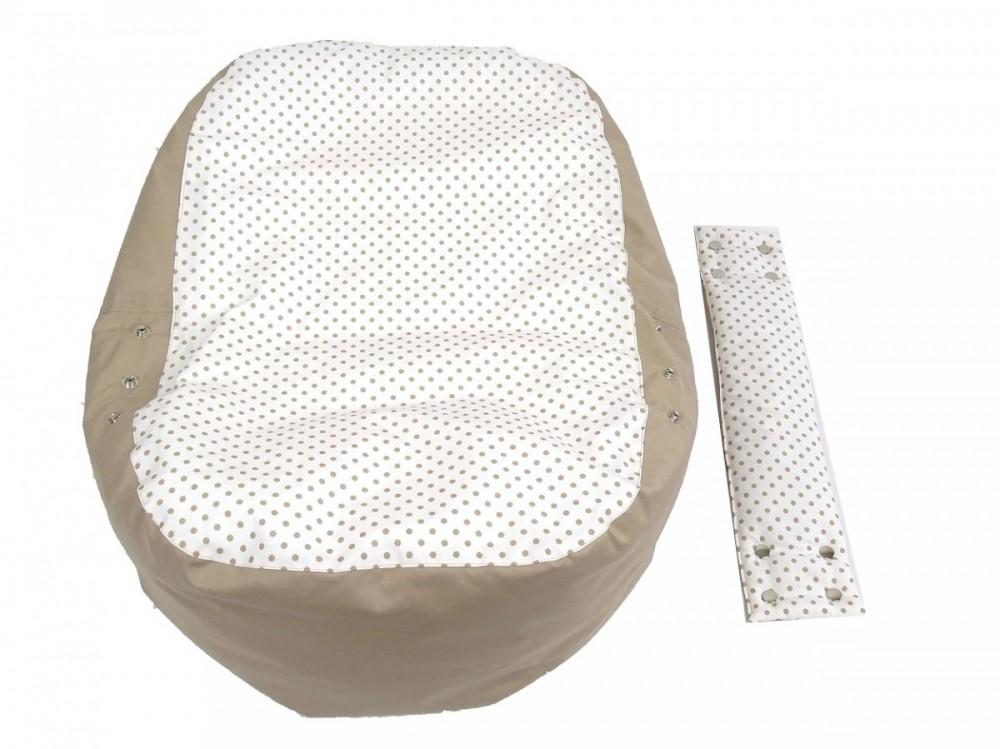 Náhradní potah, na pelíšek pro miminko PUNTÍK BÉŽOVÝ, 100% bavlna 2