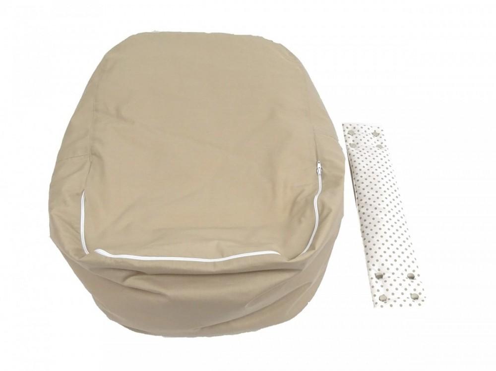 Náhradní potah, na pelíšek pro miminko PUNTÍK BÉŽOVÝ, 100% bavlna 3