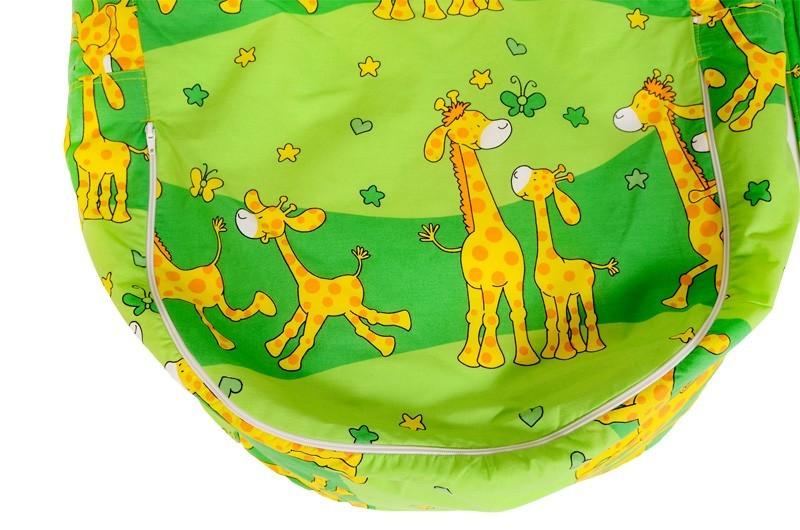 Náhradní potah, na pelíšek pro miminko ŽIRAFA ZELENÁ, 100% bavlna 1