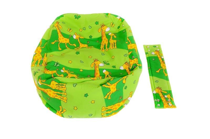 Náhradní potah, na pelíšek pro miminko ŽIRAFA ZELENÁ, 100% bavlna 2