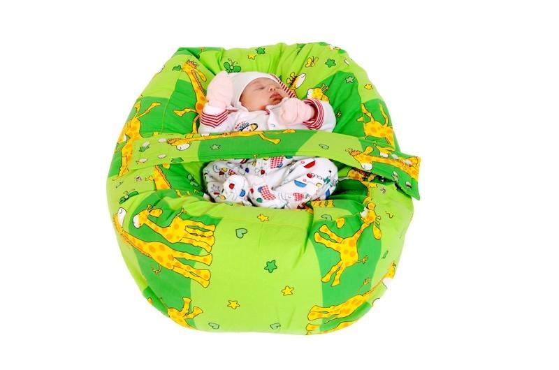 Náhradní potah, na pelíšek pro miminko ŽIRAFA ZELENÁ, 100% bavlna 3