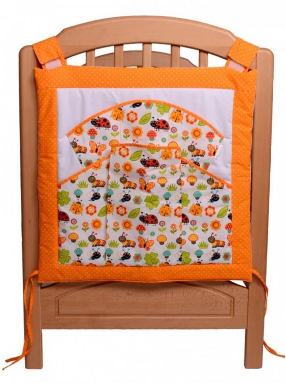 kapsář na postýlku beruška oranžová