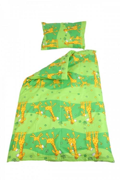 povlečení do postýlky, žirafa zelená