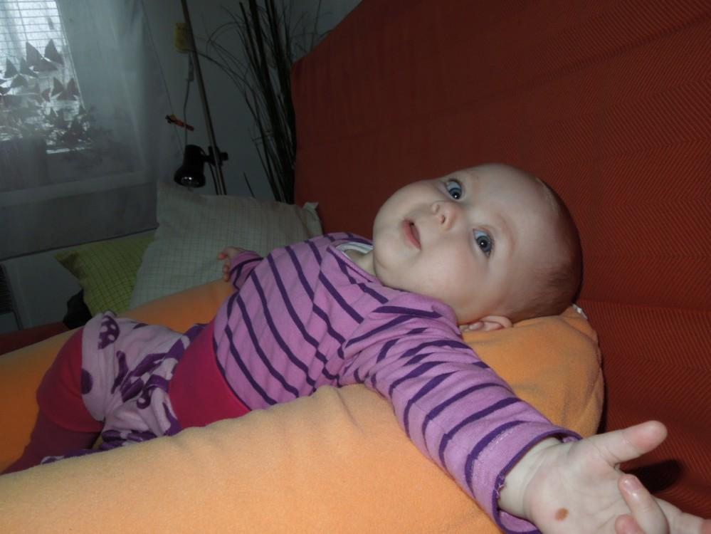 Sára - kojící polštář Matýsek, fleece oranžový