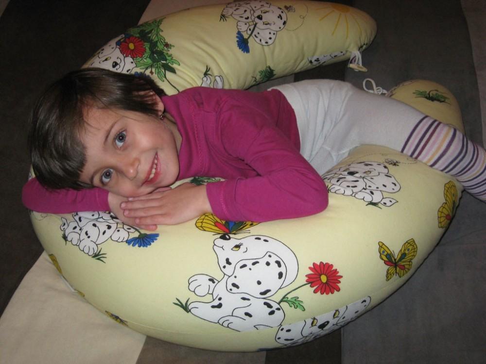 paní Boučková - Kojící polštář Matýsek, dalmatin žlutý