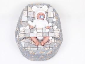 Pelíšek pro miminko PATCHWORK 100% bavlna