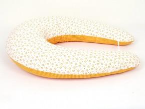 Kojící polštář Standard ORANŽOVÁ SRDÍČKA, 100% bavlna