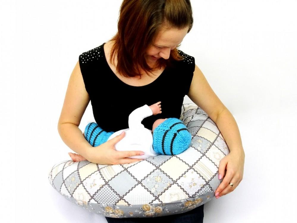 těhotenský a kojící polštář Matýsek, patchwork