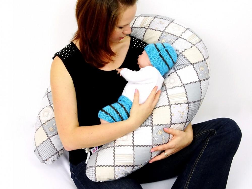 těhotenský a kojící polštář Matýsek, patchwork 1