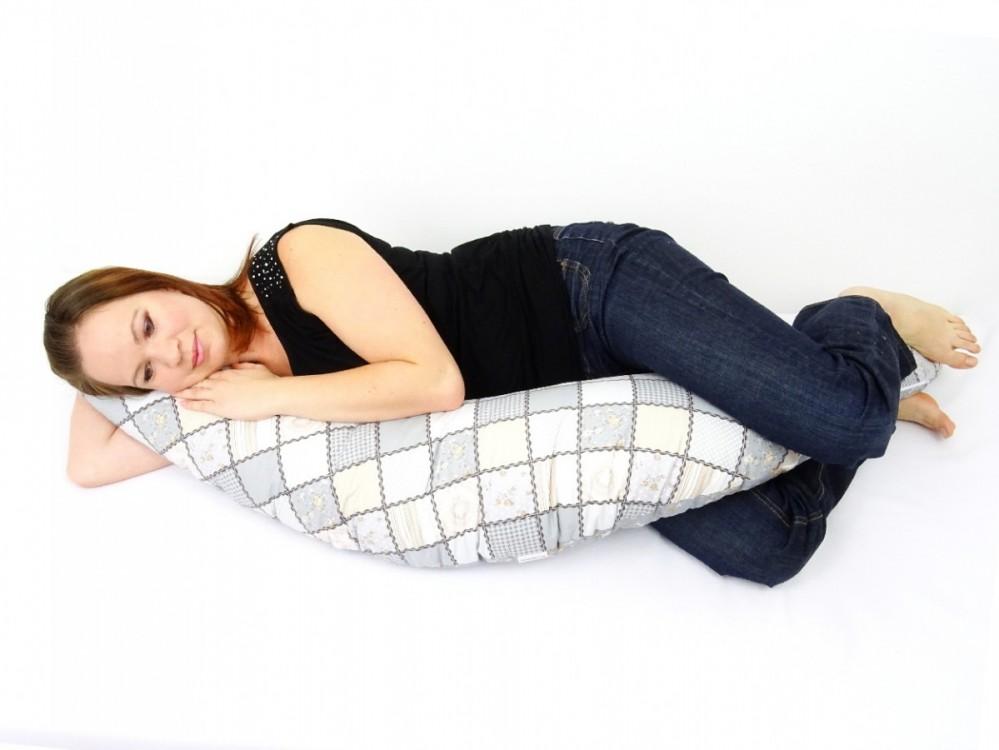 těhotenský a kojící polštář Matýsek, patchwork2