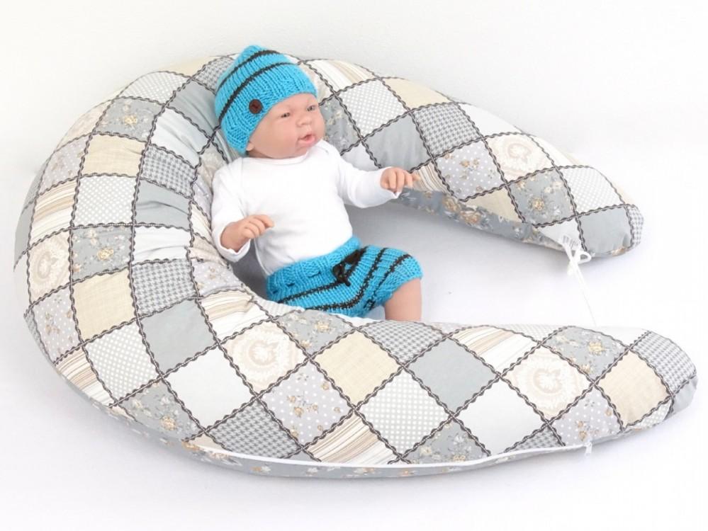 těhotenský a kojící polštář Matýsek, patchwork 3
