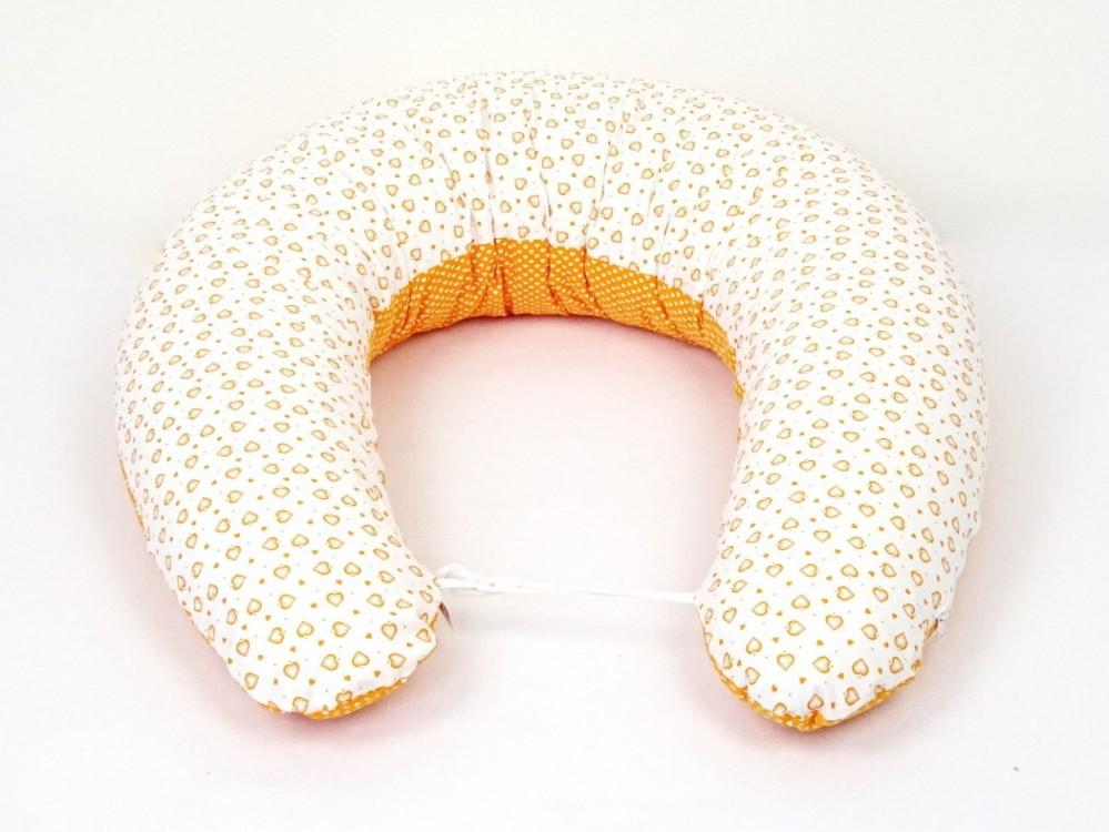 těhotenský a kojící polštář Matýsek, srdíčka oranžová 1