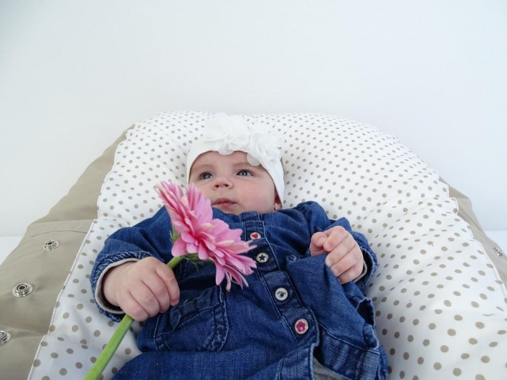 Andrea - pelíšek pro miminko Matýsek, puntík béžový