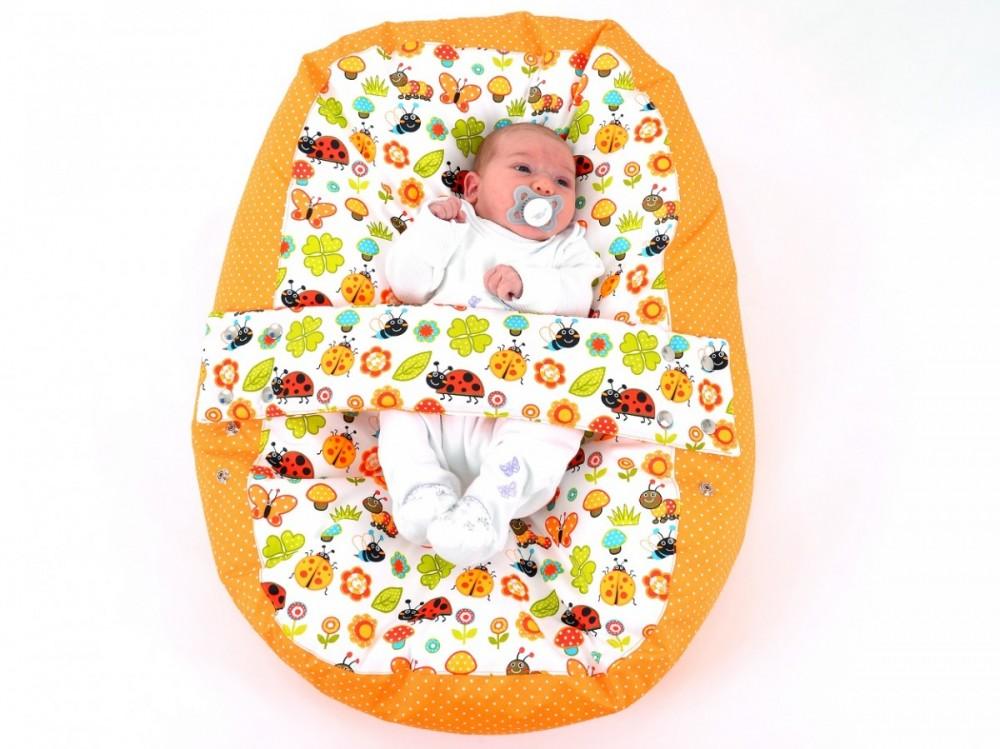 Pelíšek pro miminko BERUŠKA ORANŽOVÁ, 100% bavlna