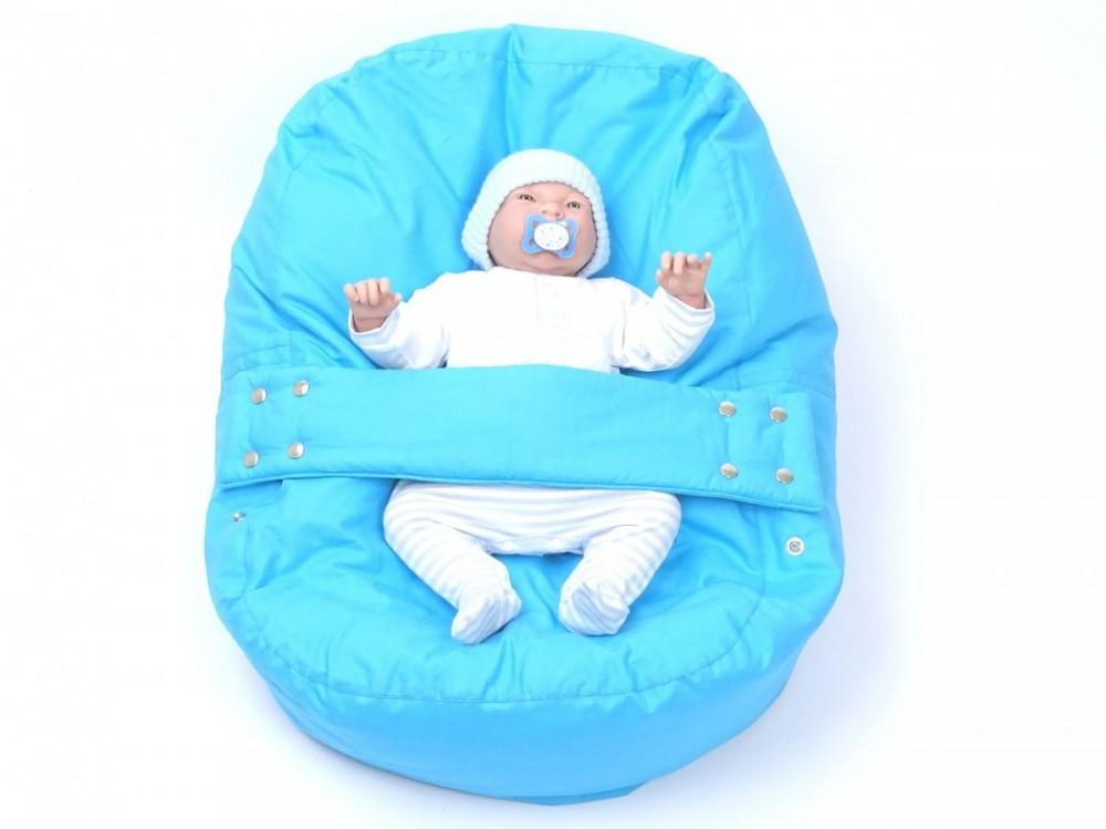 Pelíšek pro miminko MODRÝ, 100% bavlna