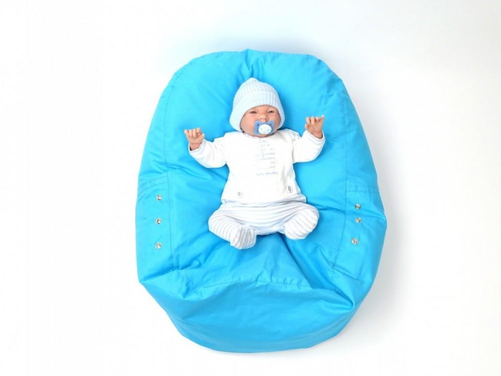 Pelíšek pro miminko MODRÝ, 100% bavlna 4