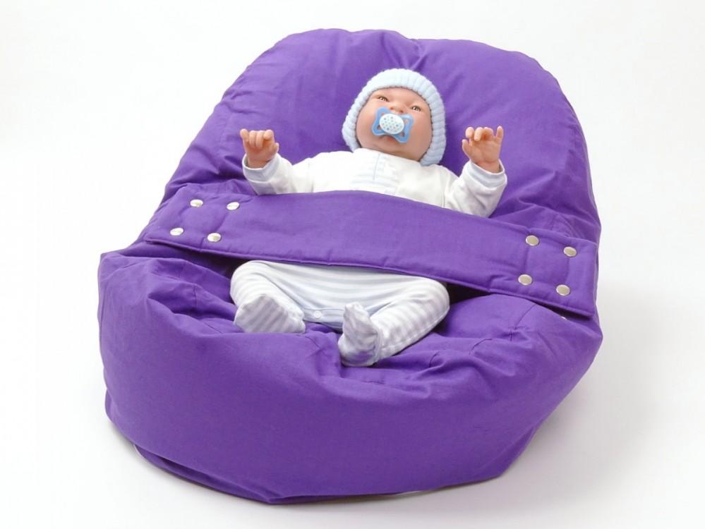 Pelíšek pro miminko FIALOVÝ, 100% bavlna