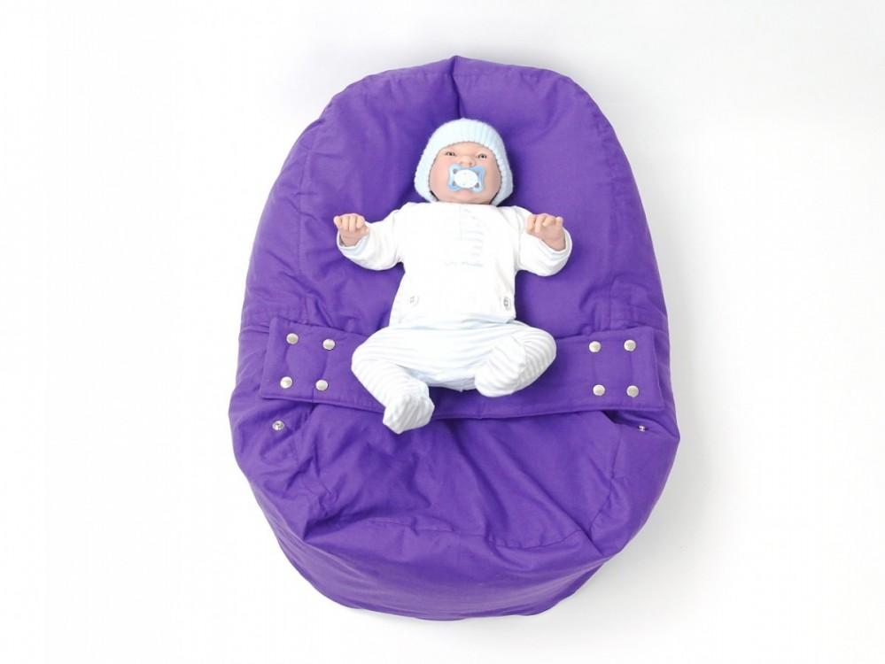 Pelíšek pro miminko FIALOVÝ, 100% bavlna č.2