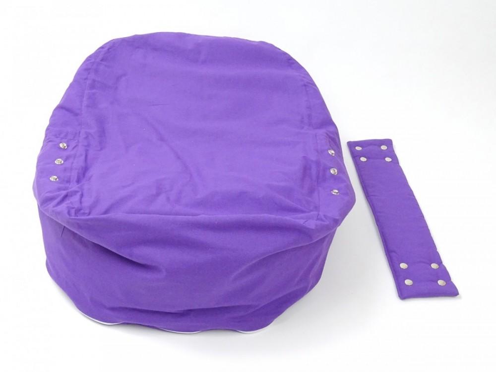 Pelíšek pro miminko FIALOVÝ, 100% bavlna č.4