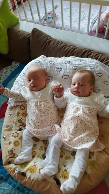Dvojčátka - Pelíšek pro miminko beruška béžová