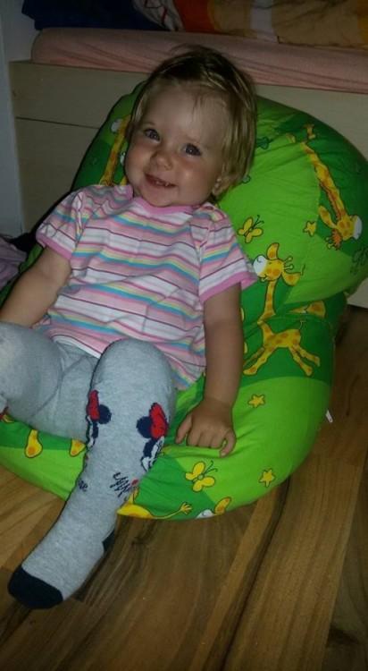 Klárka - pelíšek pro miminko, žirafa zelená
