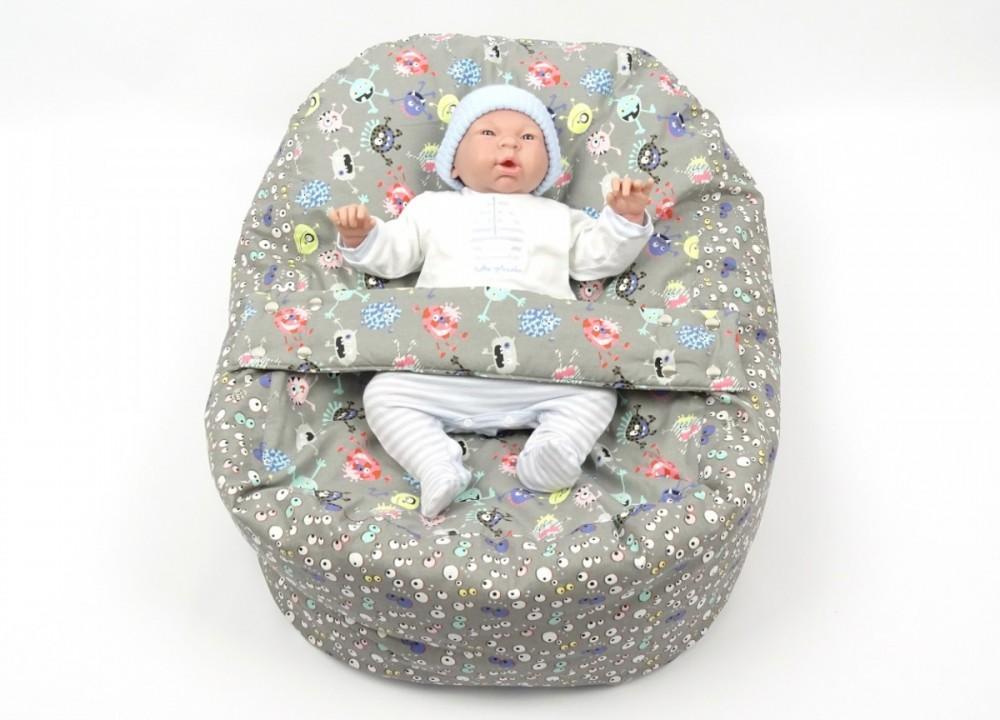 Pelíšek pro miminko STRAŠIDLA, 100% bavlna
