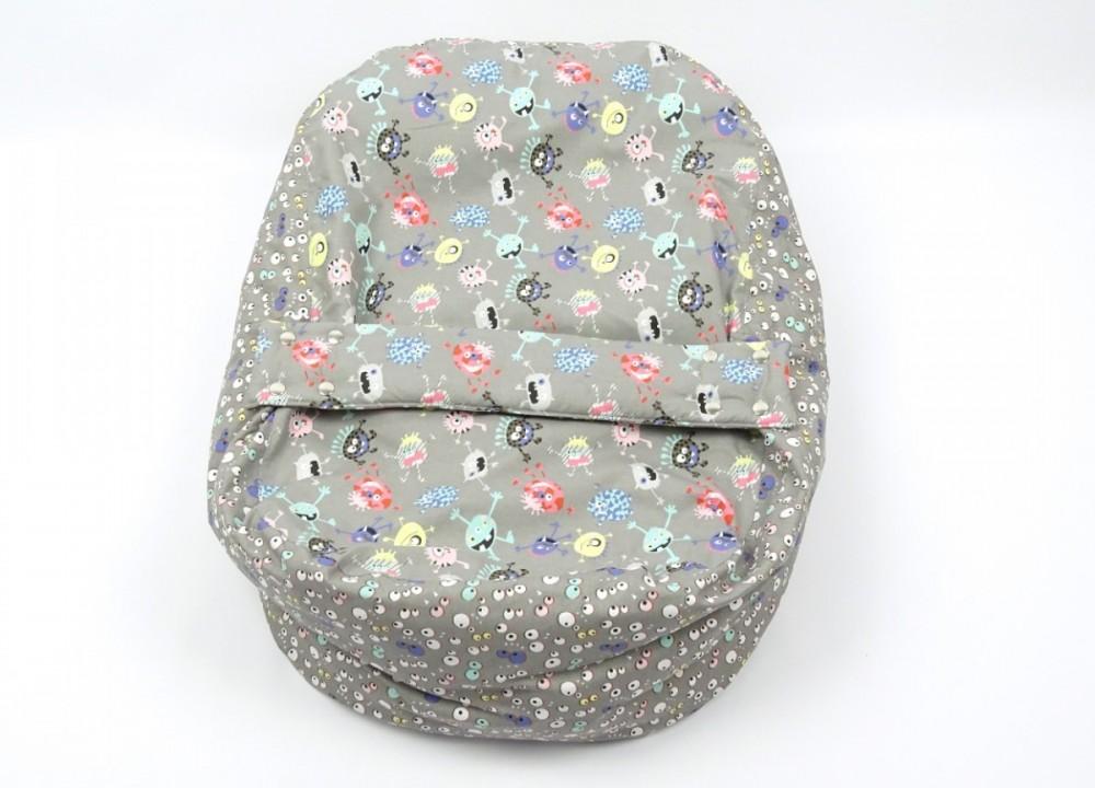 Pelíšek pro miminko STRAŠIDLA, 100% bavlna č.2