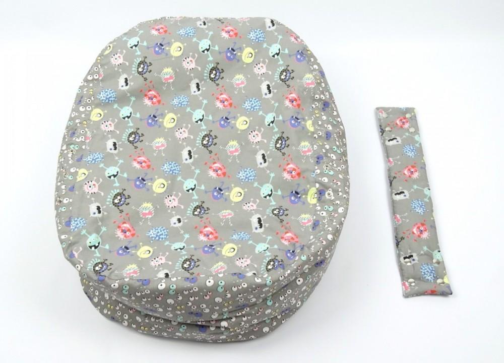 Pelíšek pro miminko STRAŠIDLA, 100% bavlna č.4