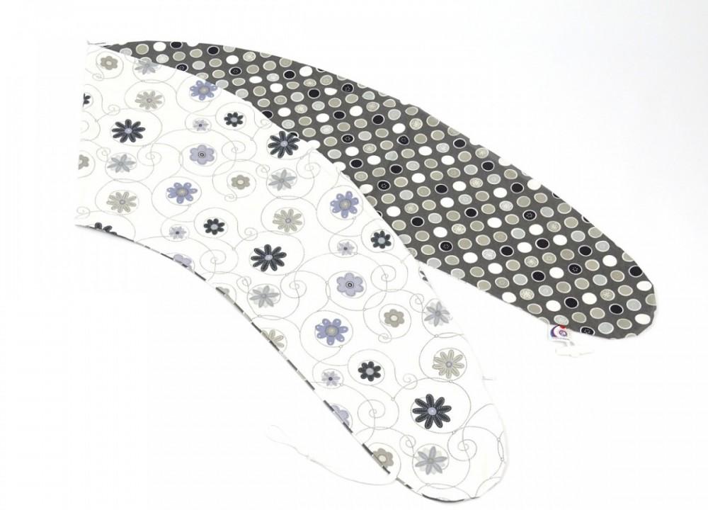 Potah na kojící polštář Matýsek LOUKA ČERNO/BÍLÁ, 100% bavlna