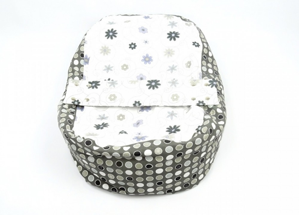 Pelíšek pro miminko LOUKA ČERNOBÍLÁ, 100% bavlna 1