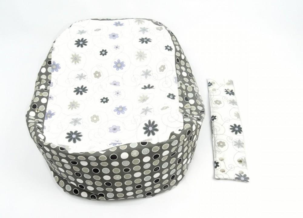 Pelíšek pro miminko LOUKA ČERNOBÍLÁ, 100% bavlna č.4