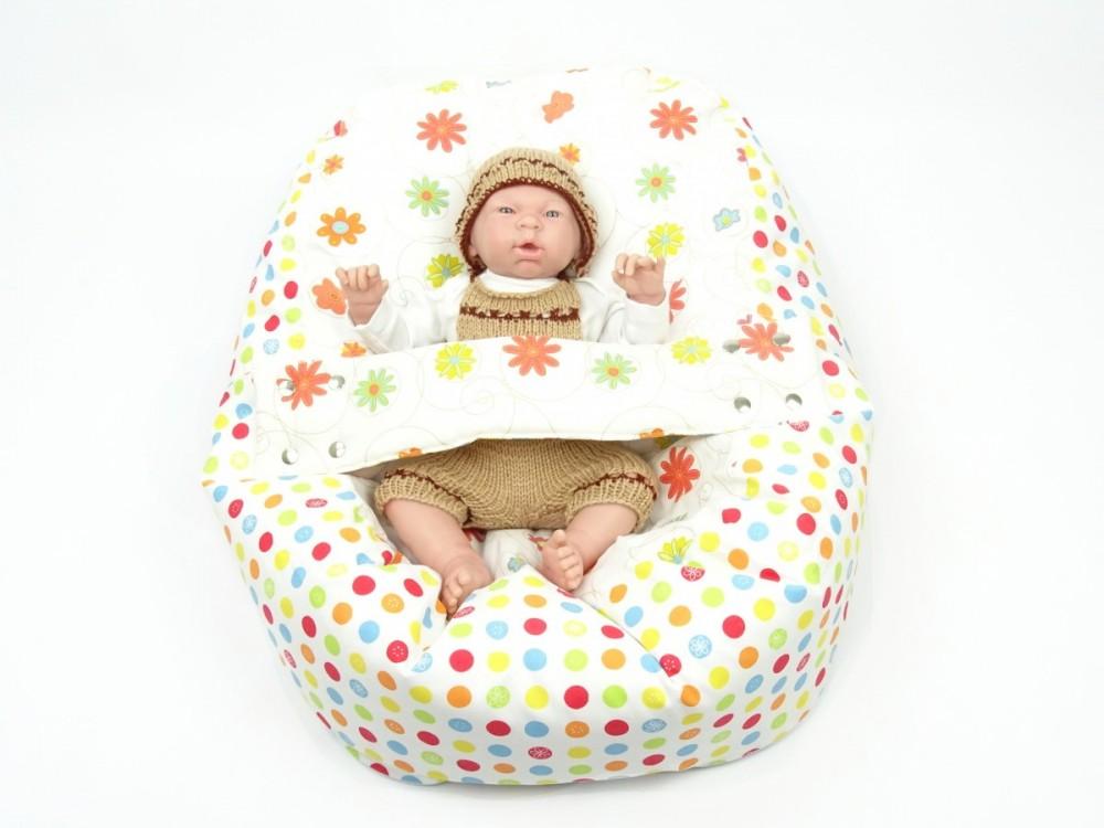 Pelíšek pro miminko LOUKA ORANŽOVÁ, 100% bavlna
