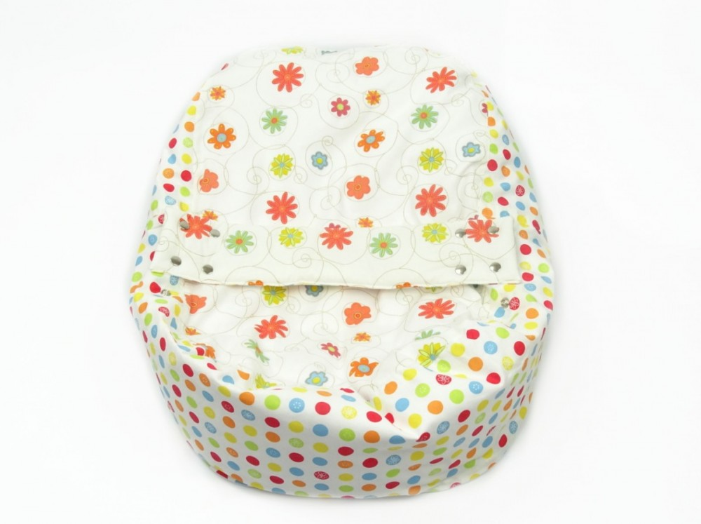 Pelíšek pro miminko, 100% bavlna, LOUKA ORANŽOVÁ č.3
