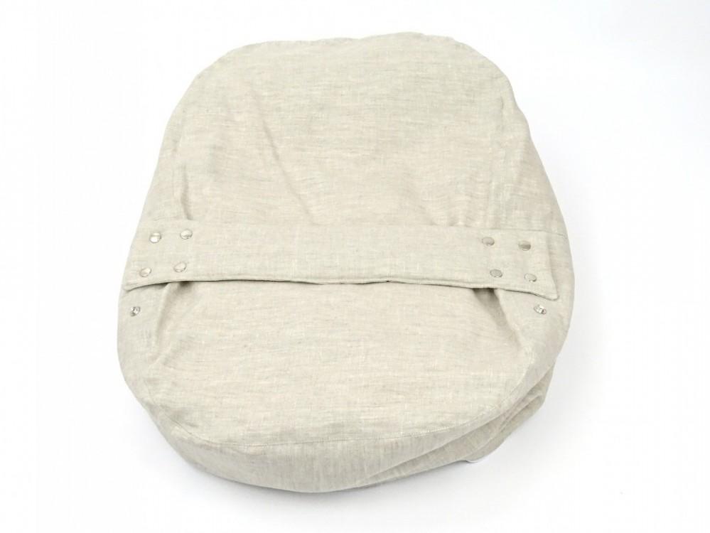 Pelíšek pro miminko 100% LEN přírodní 1